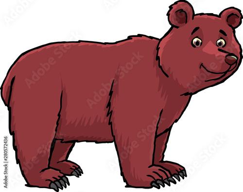 brown bear with friendly smile Tapéta, Fotótapéta