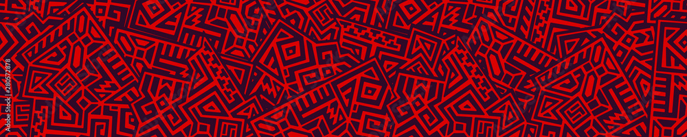 Fototapeta Creative Geometric Vector Seamless Pattern