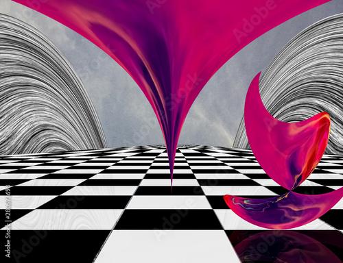 Obraz Pink Matter - fototapety do salonu