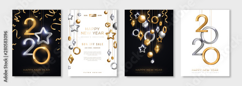 Fototapeta Christmas and New Year posters