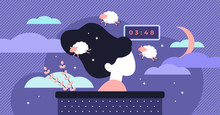 Insomnia Vector Illustration. ...