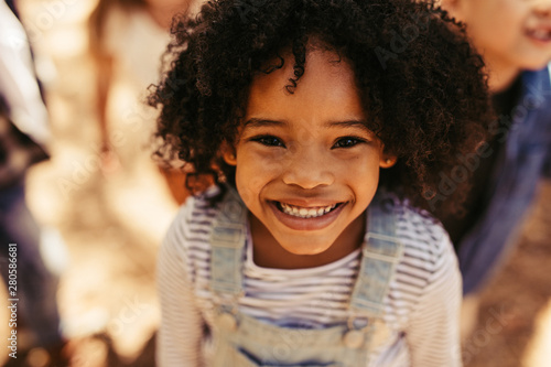 Vászonkép Smiling african girl