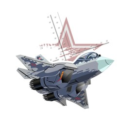 Cartoon modern military fig...