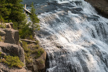 Gibbon Falls In Yellowstone National Park In Wyoming