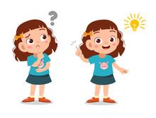 Kids Thinking Idea Vector Illu...