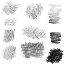 Hand Drawn Pencil Texture Set,...
