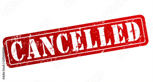Photo  cancelled rubber stamp concept illustration
