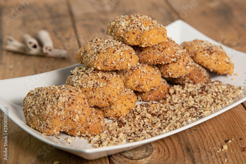 Traditional Greek Honey Cookies With Nuts Melomakarouna Buy This