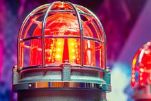 Orange Lantern Under A Metal C...