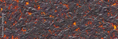 Türaufkleber Künstlich Seamless magma- large file. Destroy molten- fluid metal