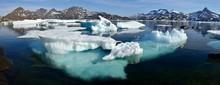 Pack Or Drift Ice In Kong Oscars Havn, Ammassalik Island, Kalaallit Nunaat, East Greenland, Greenland, Greenland, North America