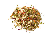 Mix Of Herbs And Spices, Italian Spices, Isolated On White Background