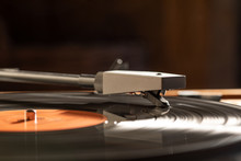 A Record Being Played On A Gramophone