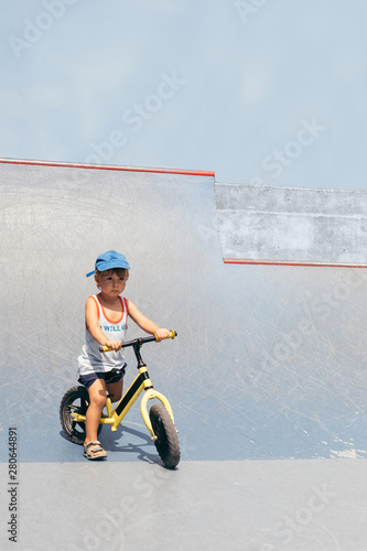 Active Child In A Skatepark