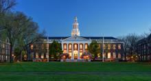 Harvard Business School Library At Night