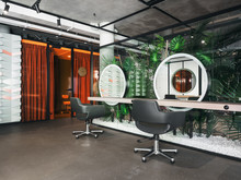 Mirrors And Chairs In Salon???interior