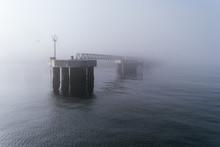 Dock Pier Between Fog