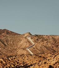 View Of Pipeline In Desert