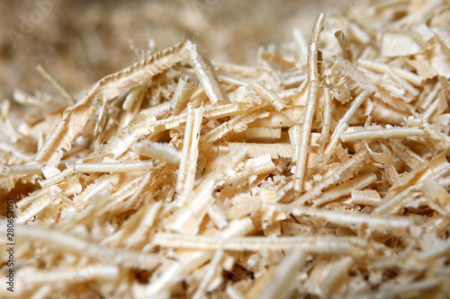 Fotografie, Obraz  Sawdust or wood dust texture background, Sawdust close up