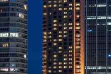 Details Of Some Modern Buildings At Blue Hour In Sydney, Austral