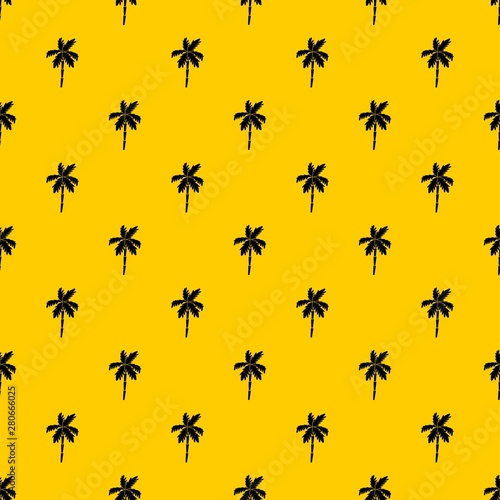 Palm tree pattern seamless vector repeat geometric yellow