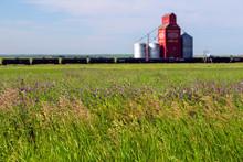 Canadian Prairies Wood Grain Elevator Saskatchewan