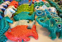 Ceramic Fish, Seahorse, Elephant. Decorative Ornamental Gift.
