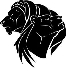 Lion And Lioness Silhouette