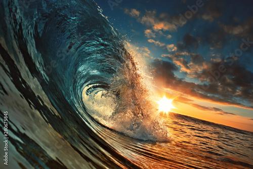 ocean-sunset-wave-czysta-woda-w-kolorowe-tlo