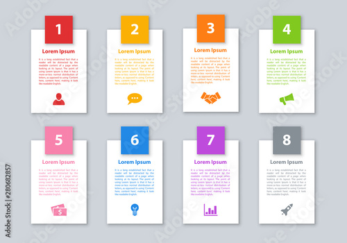 Photo  Infographic design business concept vector illustration with 8 steps or options