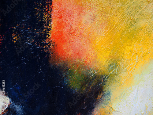 Colorful oil painting multi colors abstract background and texture.