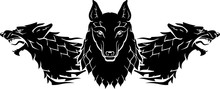 Wolf Pack Sigil Silhouette