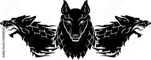 Obraz na płótnie Wolf Pack Sigil Silhouette