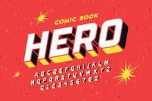 Comic Book Style Font Design, ...