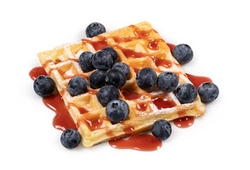 viennese waffles with straw...