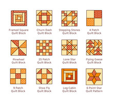 Quilt Sewing Pattern. Log Cabi...