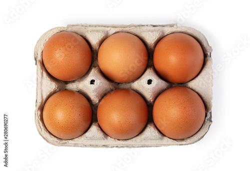 Canvas Print Chicken egg