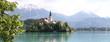 der Bleder See mit der kleinen Kirche
