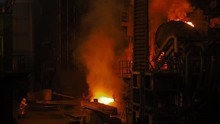 Molten Metal Pouring. Casting ...