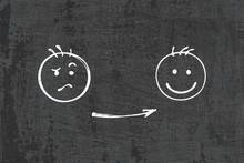 Sad And Happy Smiley. Sadness ...