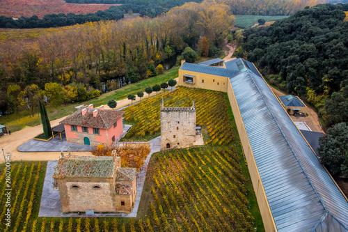 Carta da parati  Winery Property of Arínzano seen from a globe, Estella. Navarre