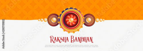 Valokuva  happy raksha bandhan festival banner design