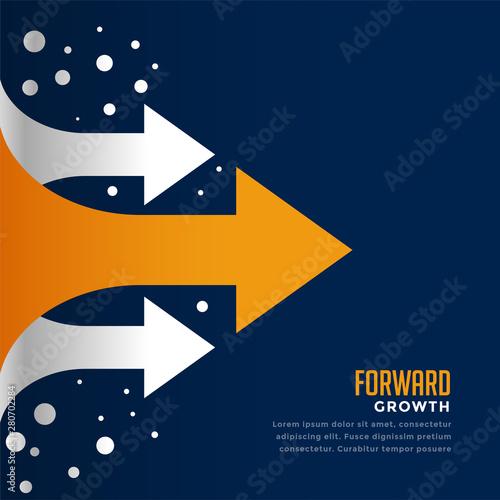 Fototapeta moving forward and leading arrow concept template obraz