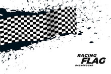 Abstract Racing Flag Grunge Ba...