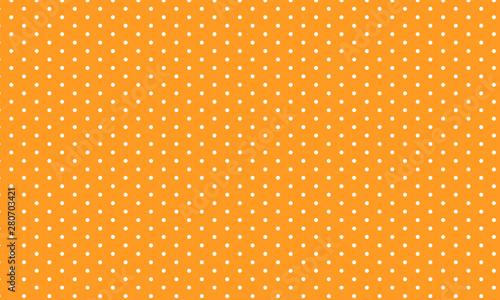 Montage in der Fensternische Künstlich Orange seamless polka dot pattern. Vector illustration