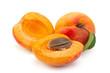 Leinwandbild Motiv Apricot fruit closeup