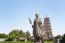 Monk Xuanzang Statue In Xian