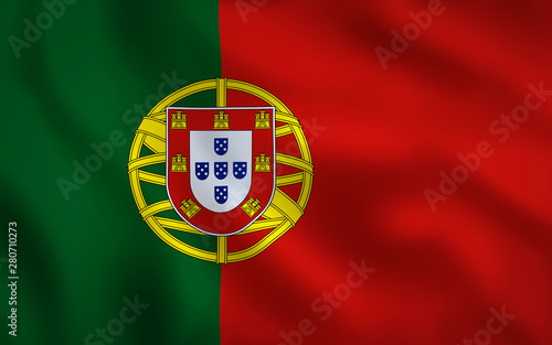 Obraz na plátně  Portuguese Flag Image Full Frame
