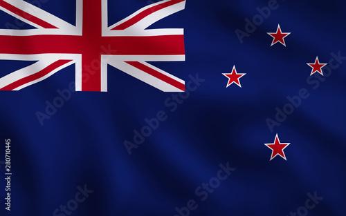 Fotografie, Obraz  New Zealand Flag Image Full Frame