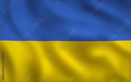 Obraz na plátně  Ukrainian Flag Image Full Frame